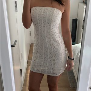 White lace dress from Urban Outfitters